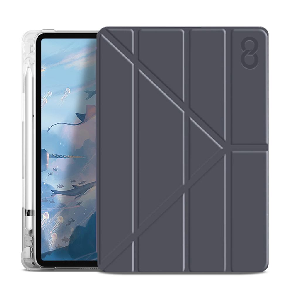 인피니티쉴드 샌드위치 스마트 커버 태블릿PC 케이스, 다크그레이
