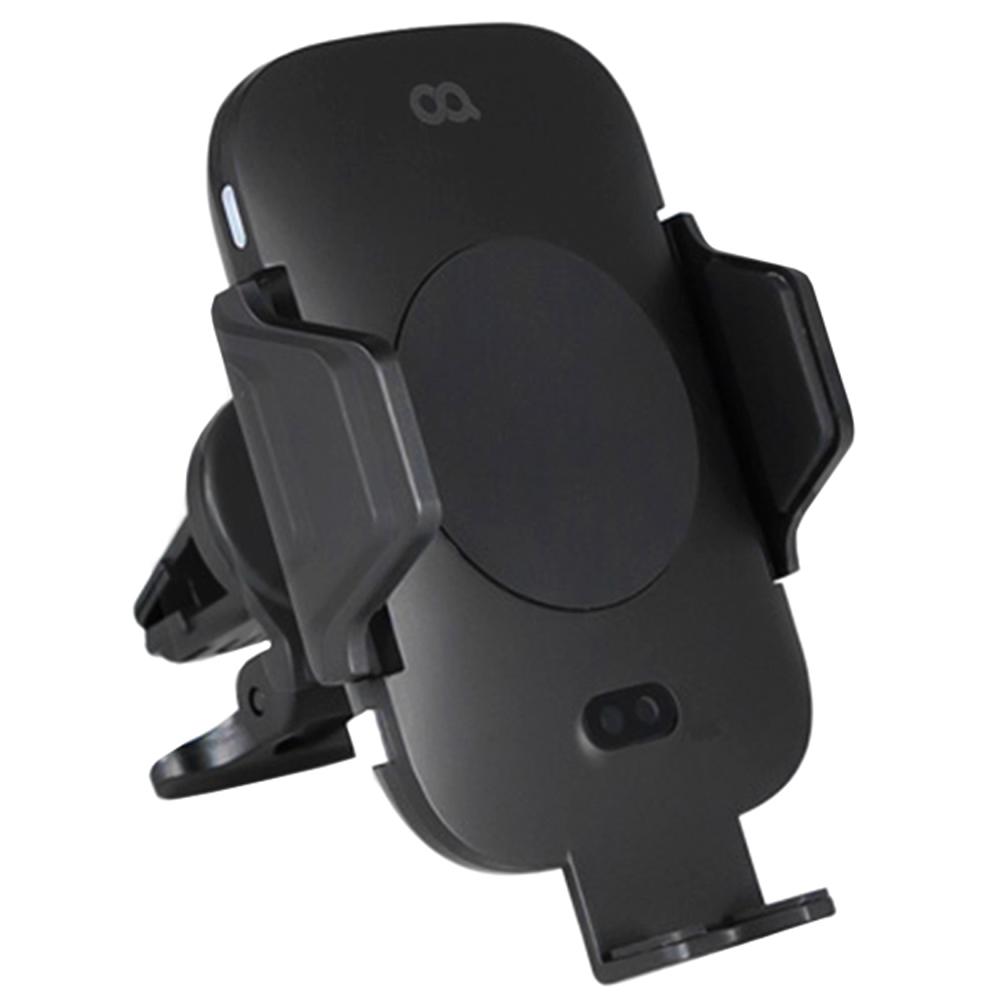 오아 차량용 슬라이딩 핸드폰 고속 무선 충전 거치대 OA-CA018, 1개, 블랙