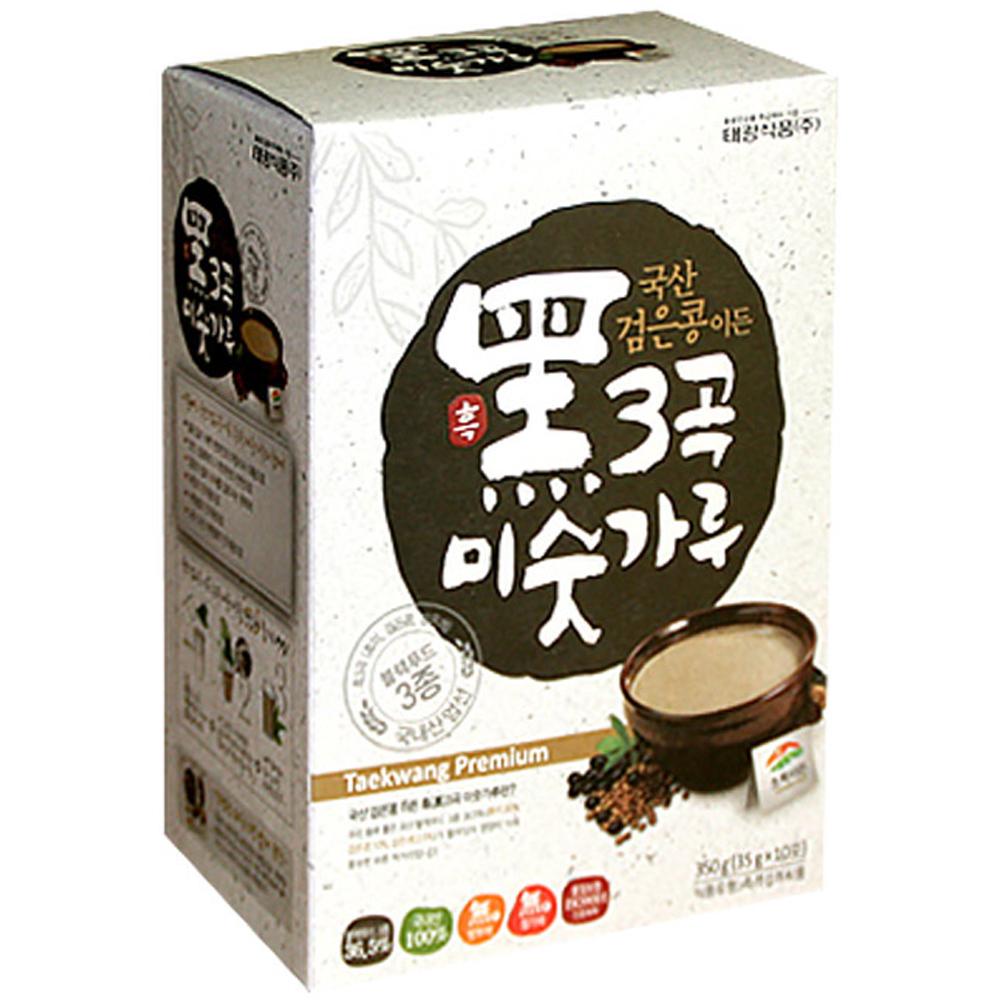 태광식품 국산 검은콩이든 흑 3곡 미숫가루, 35g, 10개입