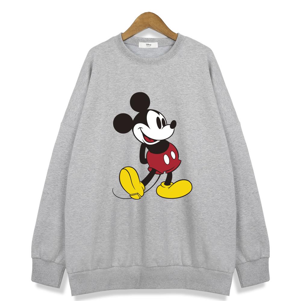 디즈니 여성용 오버핏 맨투맨 티셔츠 RTN530