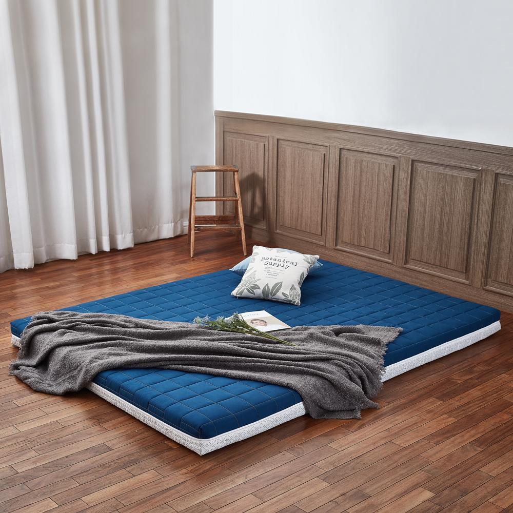 더릭스홈 9존 마약매트리스 침대형 8cm + 폴리겉커버, 네이비