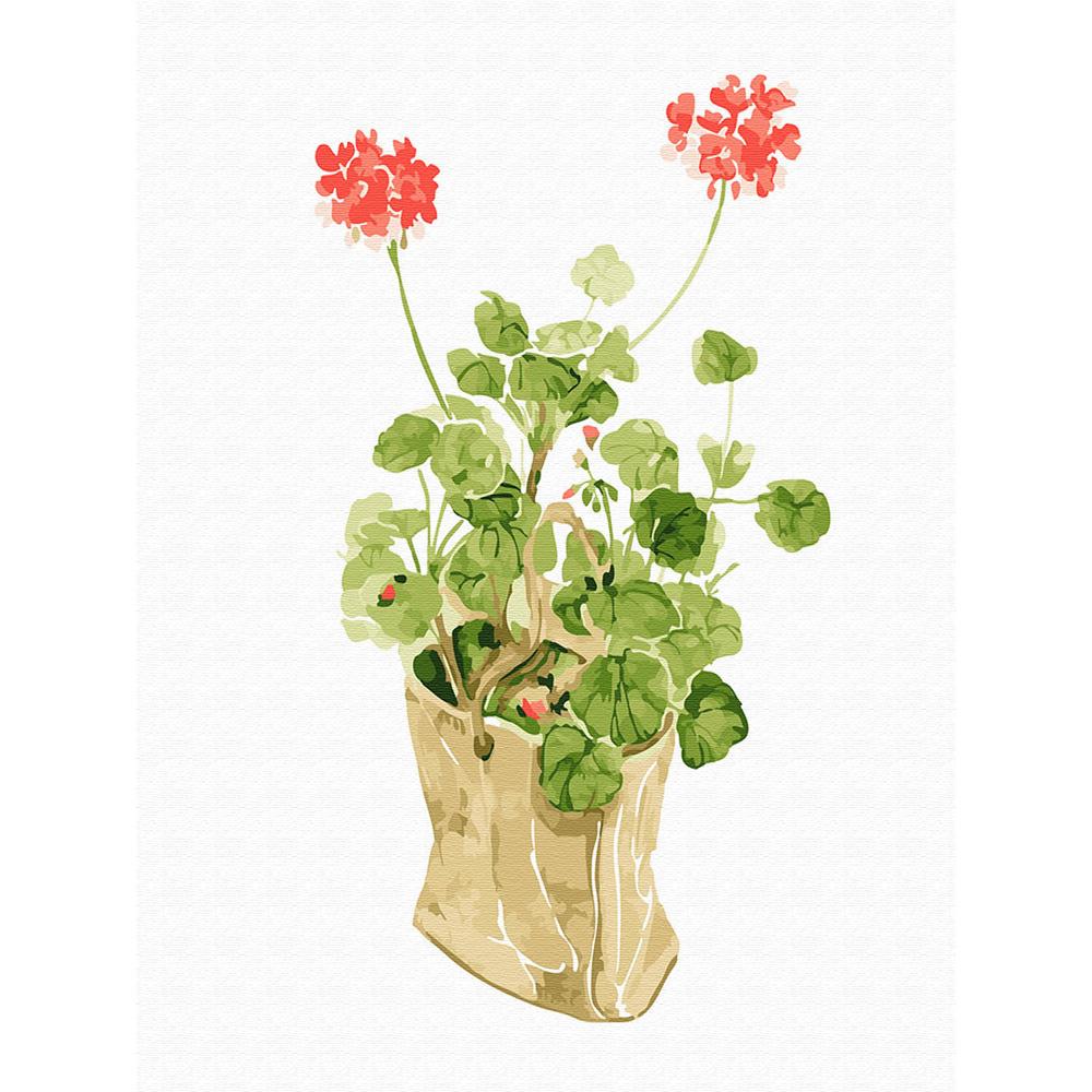 아트조이 DIY 명화그리기 물감 + 붓 세트 40 x 30 cm, 꽃의 인사