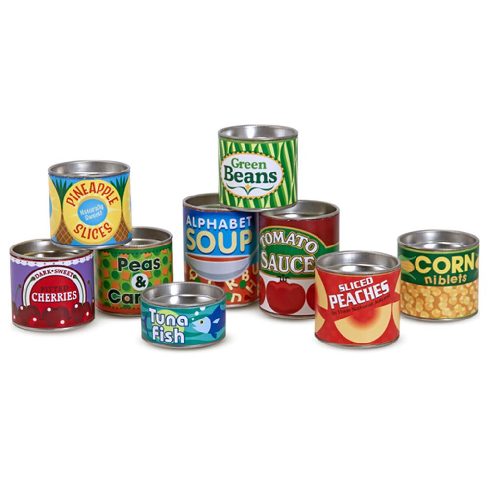 멜리사앤더그 식료품 캔 소꿉놀이 세트 MD4088, 혼합 색상