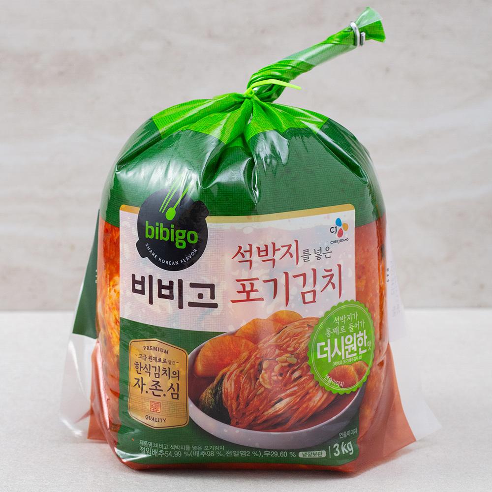 비비고 석박지를 넣은 포기김치, 3kg, 1개