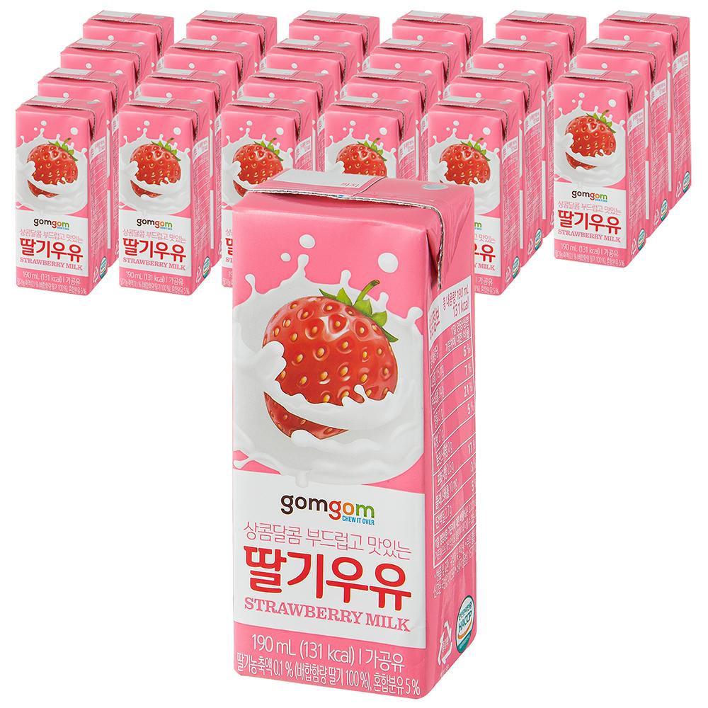 곰곰 멸균 딸기 우유, 190ml, 24개