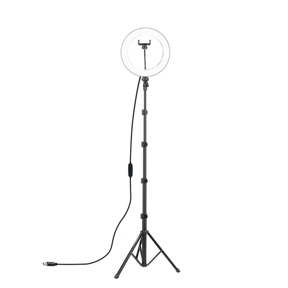 컴썸 링라이트 조명 화이트 + 알루미늄 플립락 삼각대 세트, LED-260, 1세트