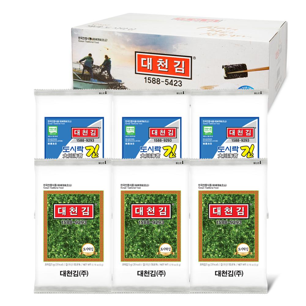 대천김 재래 도시락김, 5g, 54개