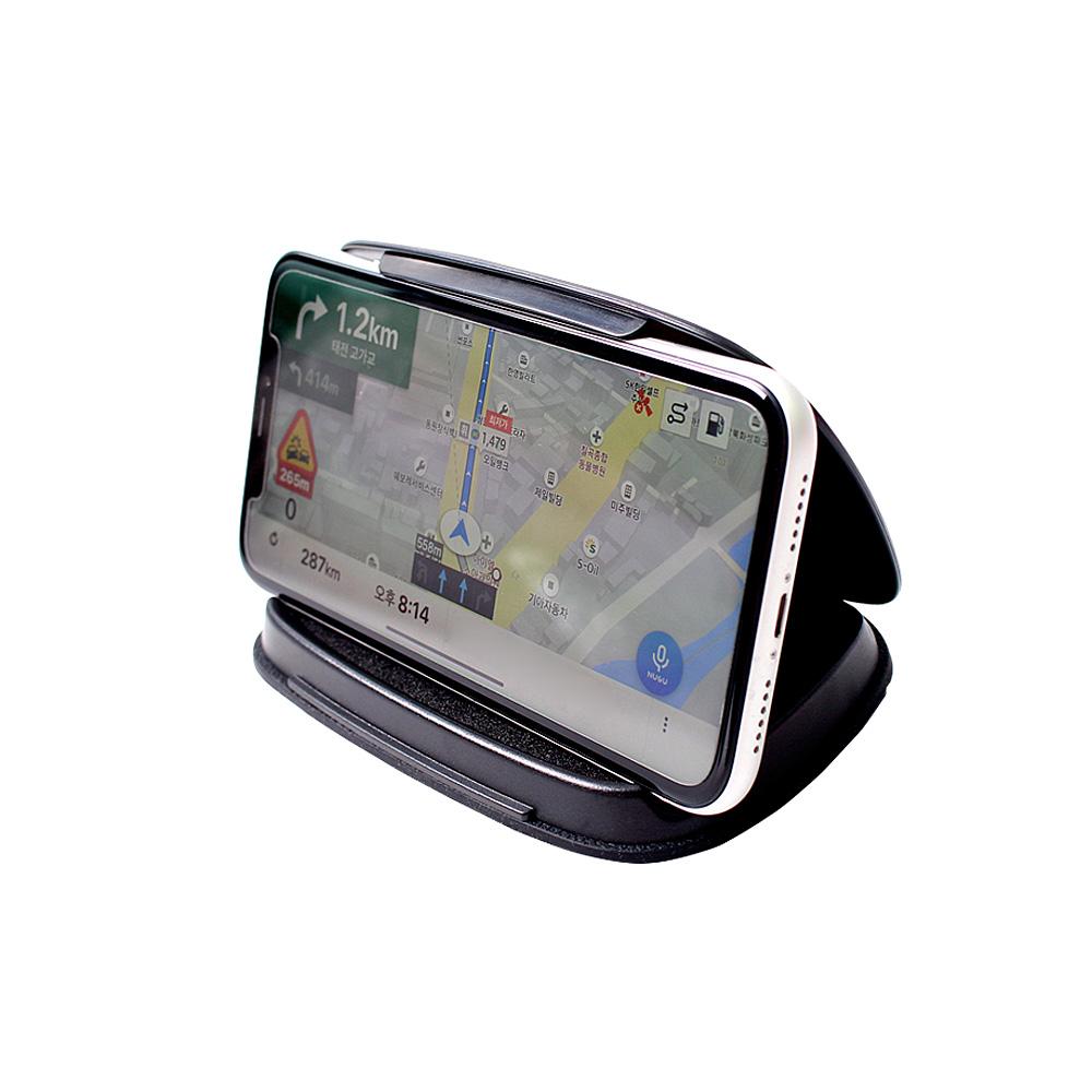 UV블로킹 차량용 대쉬보드 스마트폰 거치대 M, 블랙, 1개