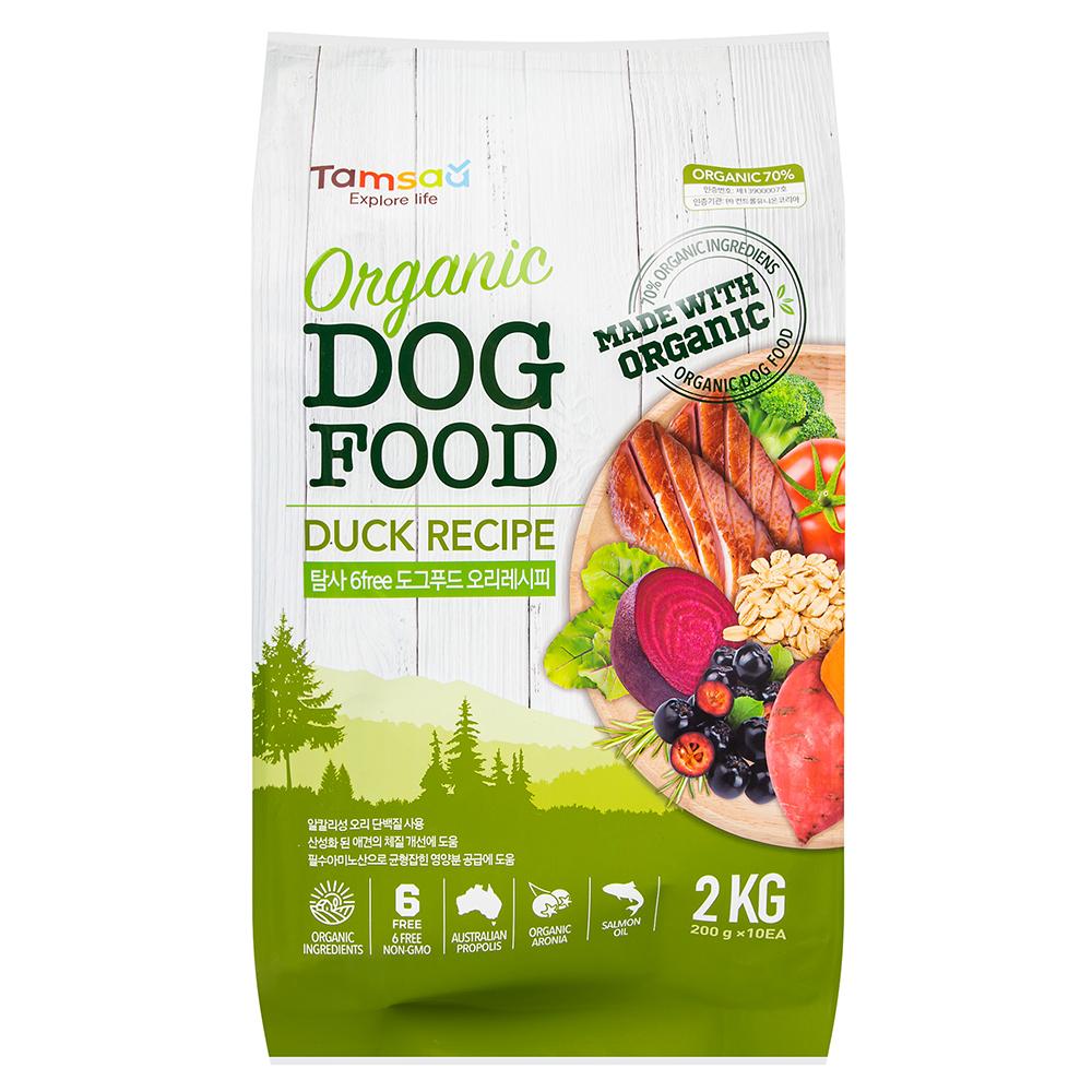 탐사 유기농 6Free 전연령 강아지사료, 오리, 2kg