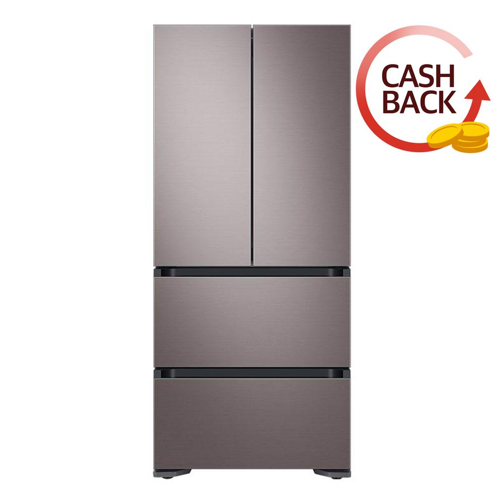 삼성전자 비스포크 김치플러스 4도어 냉장고 RQ48T94Y1T1 486L 방문설치