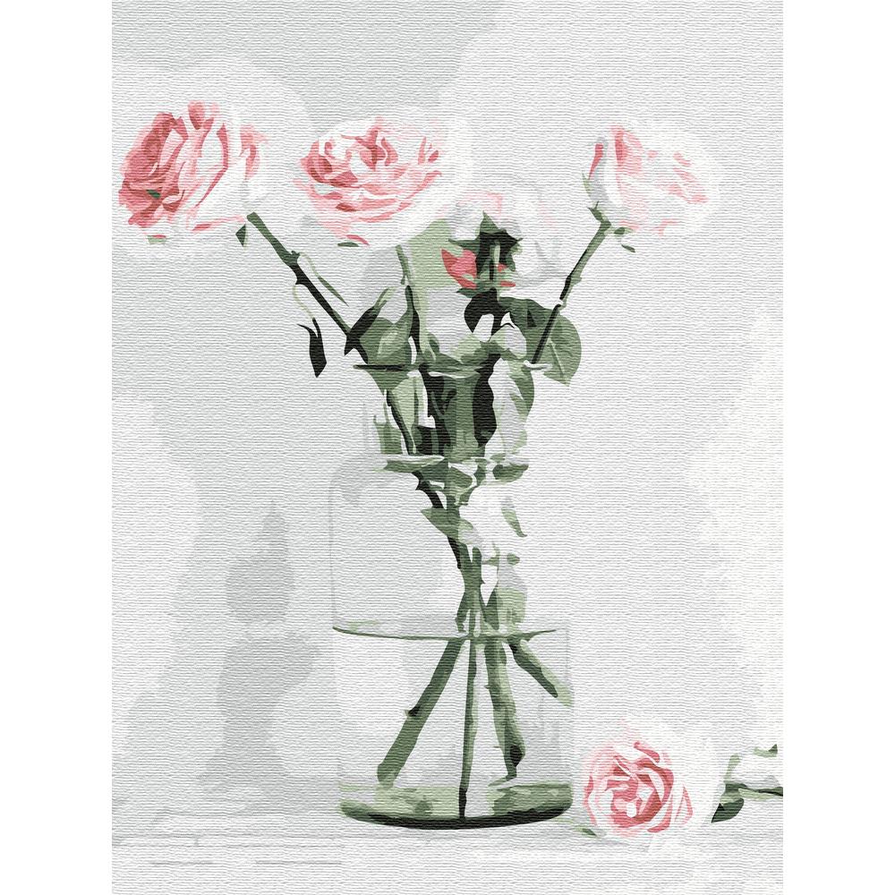 아트조이 DIY 명화그리기 물감 + 붓 세트 40 x 30 cm, 달콤한 화병