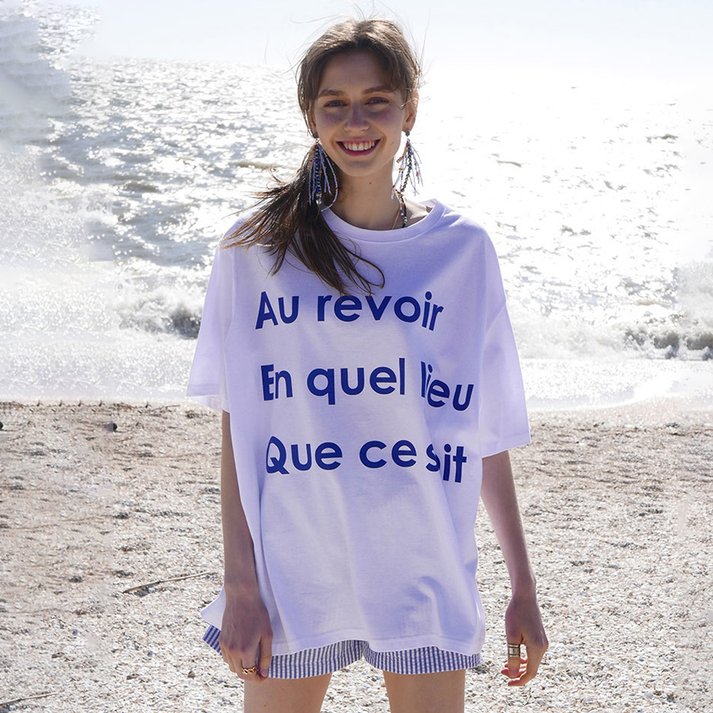 [빅사이즈] LARTIGENT 레터링 박시 LB AEQ 티셔츠 - 랭킹8위 (21570원)