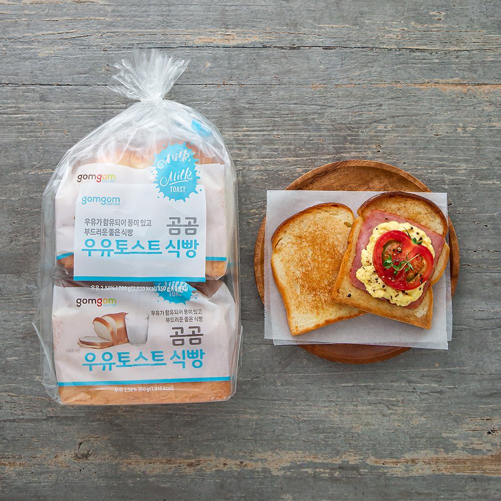 곰곰 우유토스트 식빵, 350g, 2개