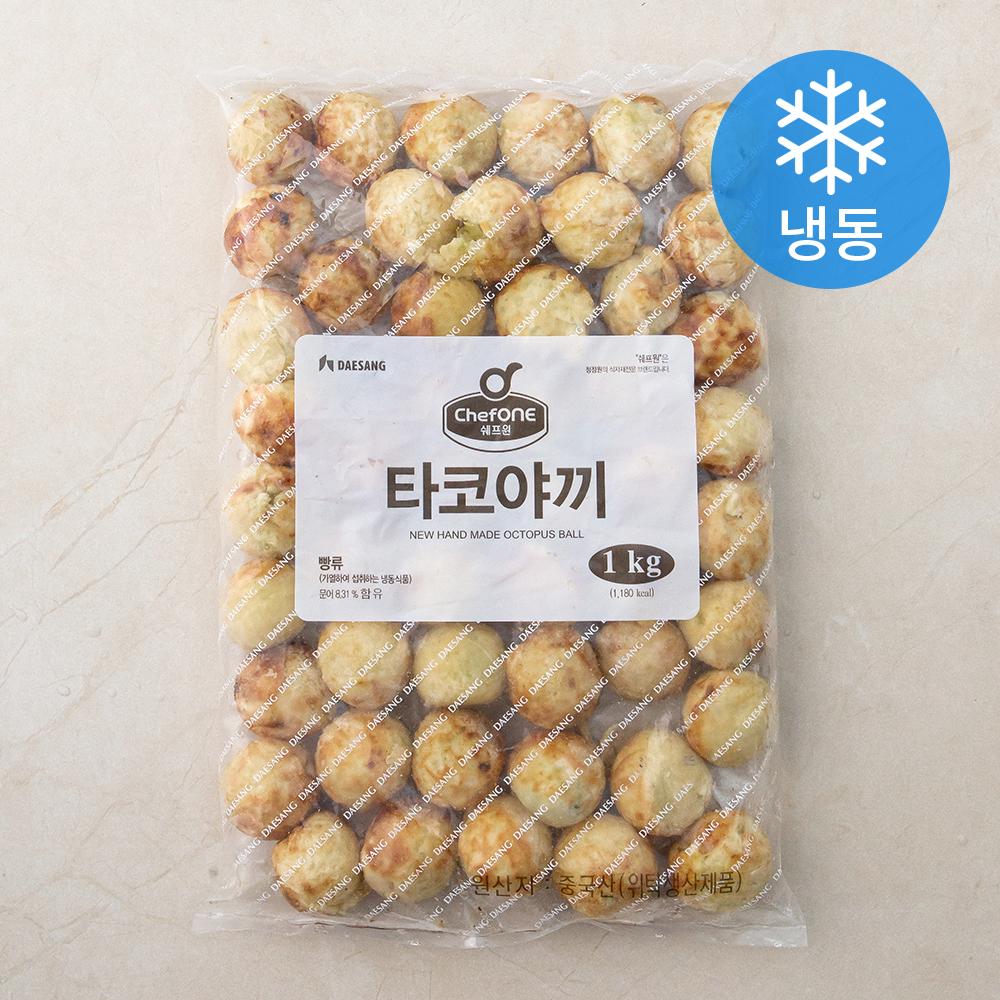 [타코야끼] 대상 쉐프원 타코야끼 (냉동), 1kg, 1개 - 랭킹2위 (9600원)