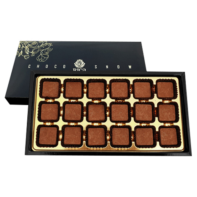 리카 초코스노우 수제초콜렛 선물세트 162g, 수제초콜렛 18p, 1세트
