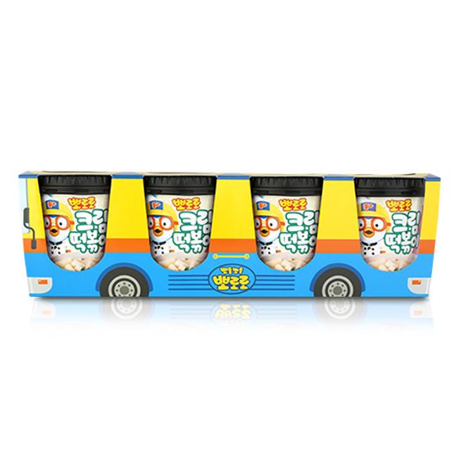 뽀로로 떡볶이 버스팩 크림맛, 115g, 4개입