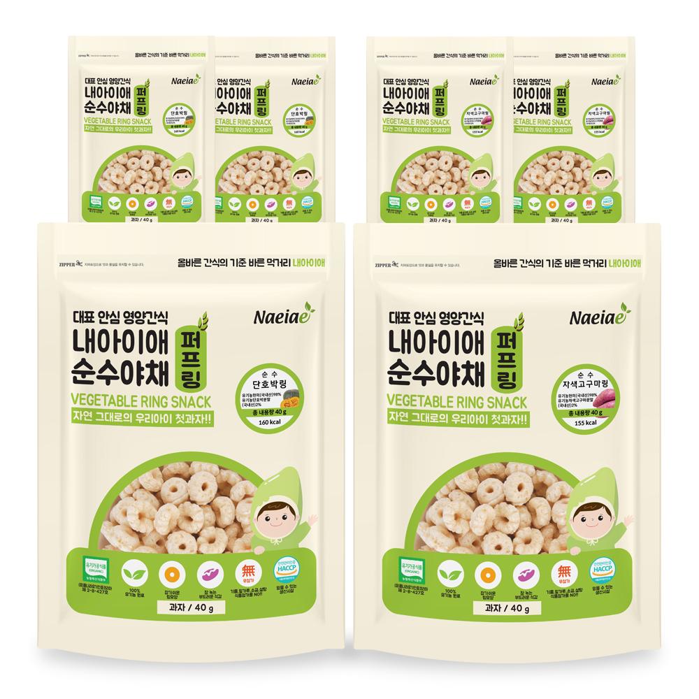 내아이애 유기농 순수야채 단호박링 3p + 자색고구마링 3p, 1세트