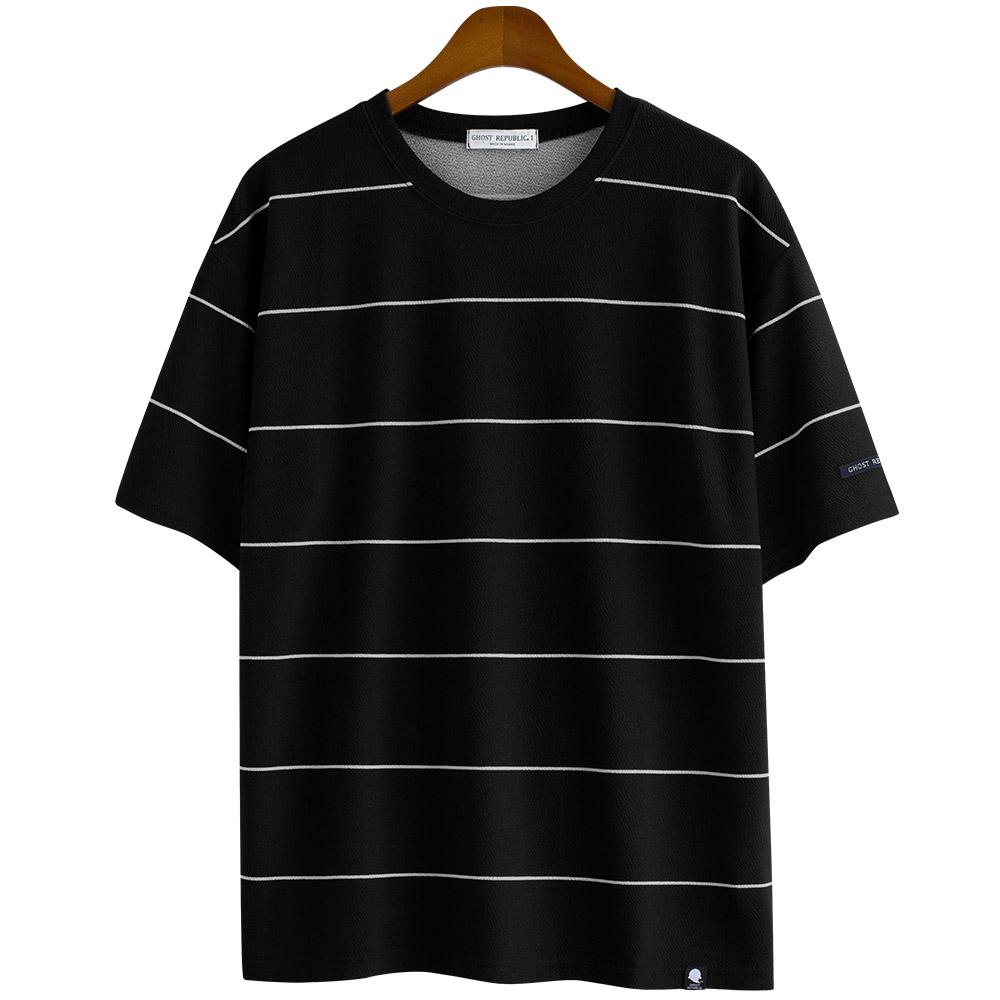 [스쿠버 반팔] 고스트리퍼블릭 남성용 오버핏 리버플 핀 스트라이프 반팔 티셔츠 GT 3145 - 랭킹52위 (15500원)