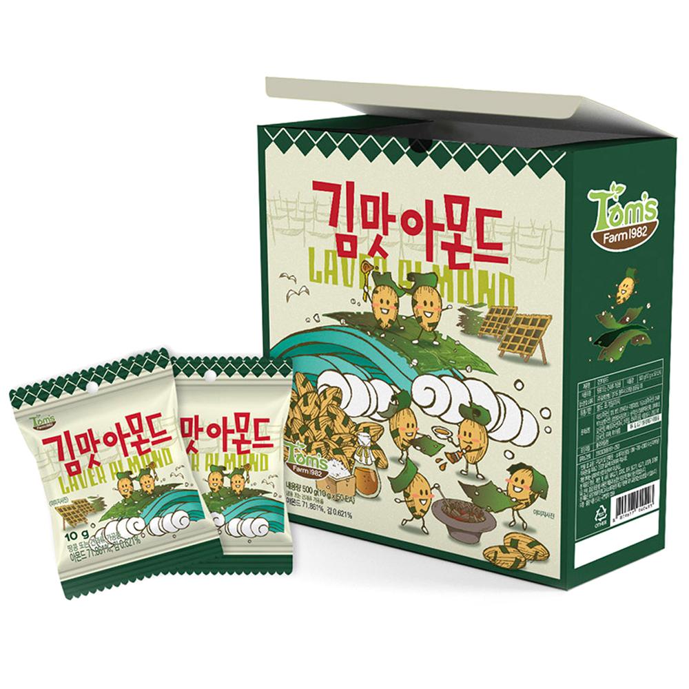 탐스팜 김맛 아몬드, 10g, 50개