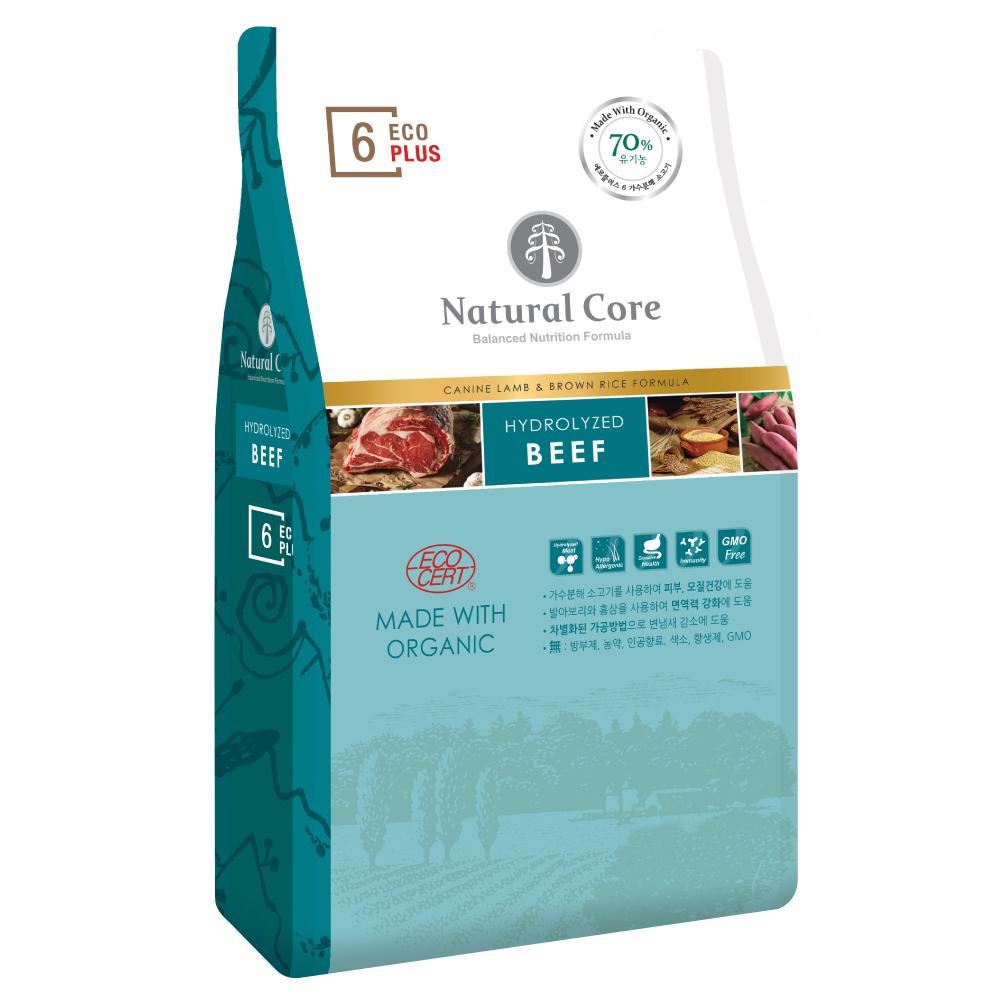 네츄럴코어 에코플러스6 유기농 6Free 반려견사료 소고기, 2kg, 1개