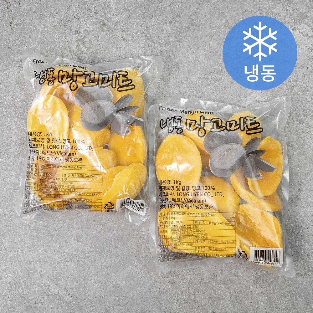 웰프레쉬 망고미트 (냉동), 1kg, 2개