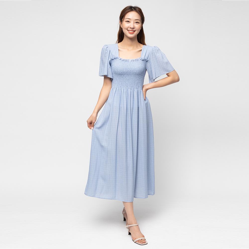 [원피스] 캐럿 여성 스모킹 체크 패턴 드레스 - 랭킹17위 (21900원)