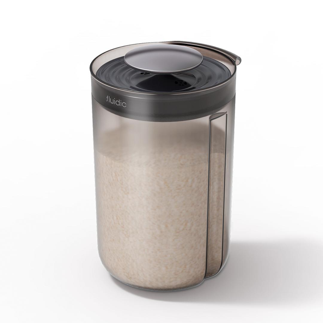 엠지엠씨 플루딕 진공 밀폐 쌀통 3L, 블랙