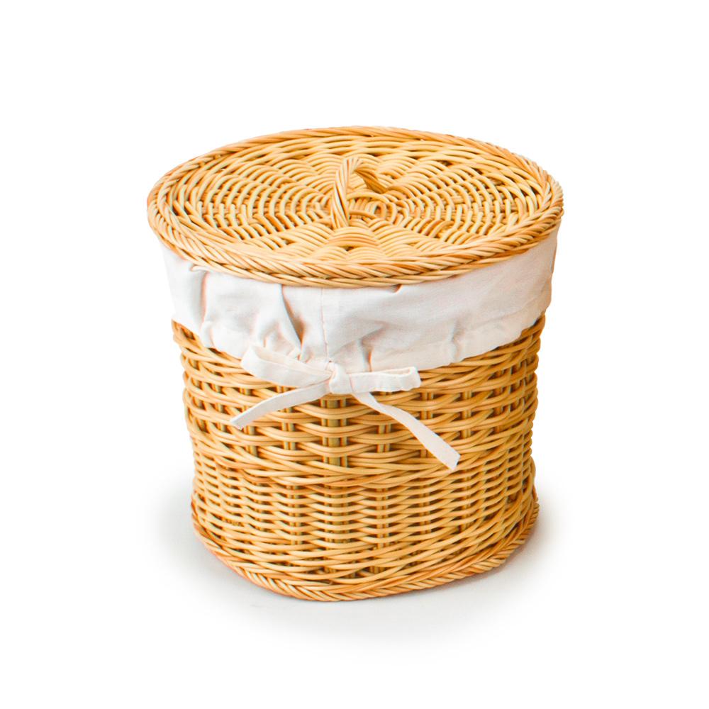 에스파스 TOZ 수제 라탄세탁바구니 소, 혼합 색상, 1개