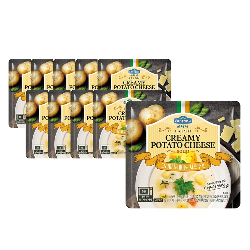 폰타나 크리미 포테이토 치즈 수프, 180g, 10개