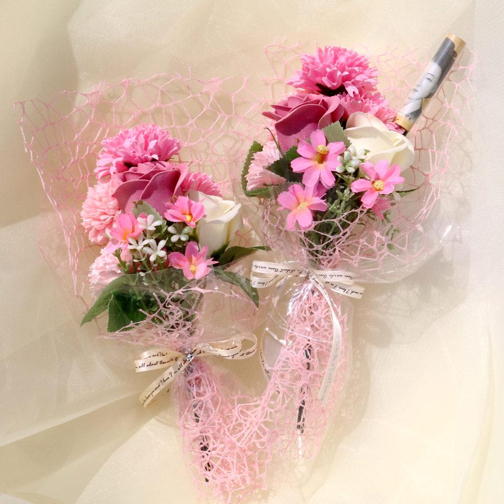 블뤼엔 조화 감사n 카네이션 꽃다발 2p, 핑크