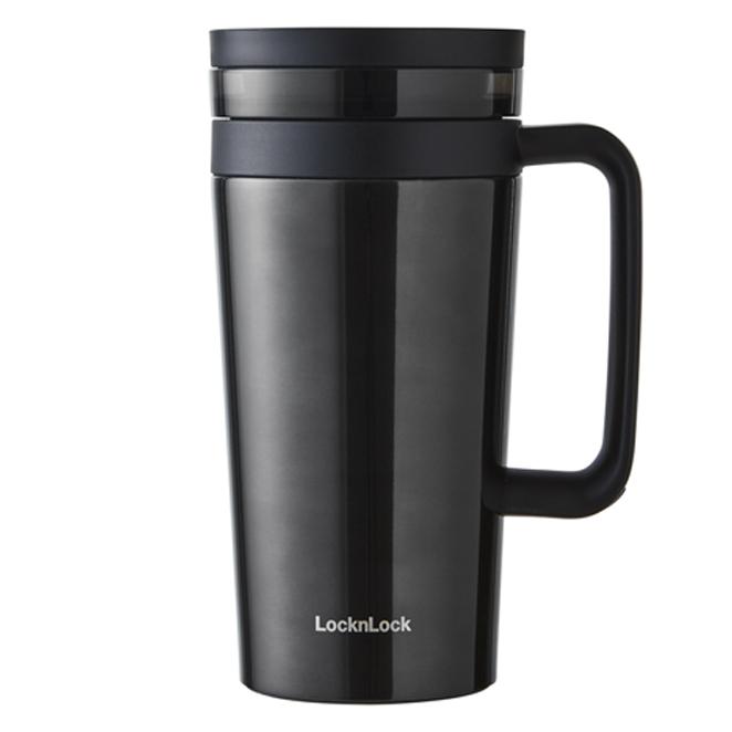 락앤락 커피 필터 머그 텀블러, 블랙, 580ml