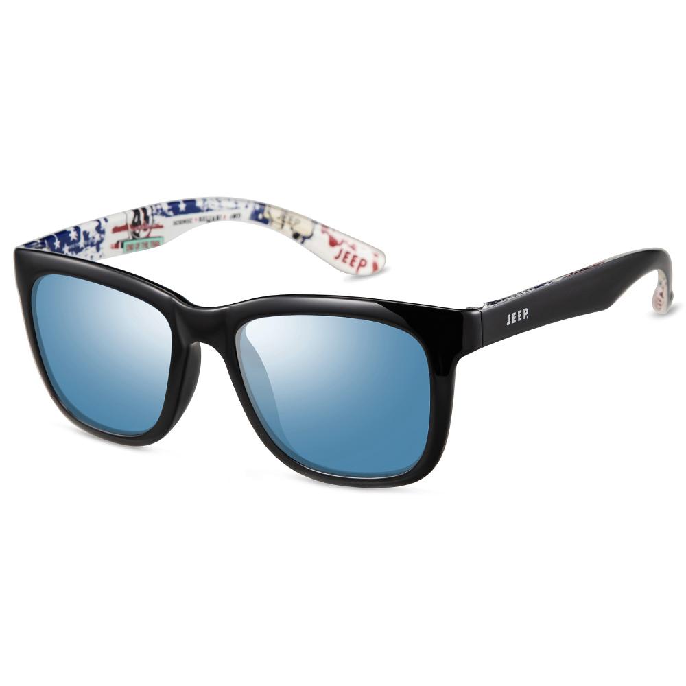 지프 편광 선글라스 R3027PS18 + 케이스 랜덤 발송, 프레임(유광 블랙), 렌즈(블루 미러)