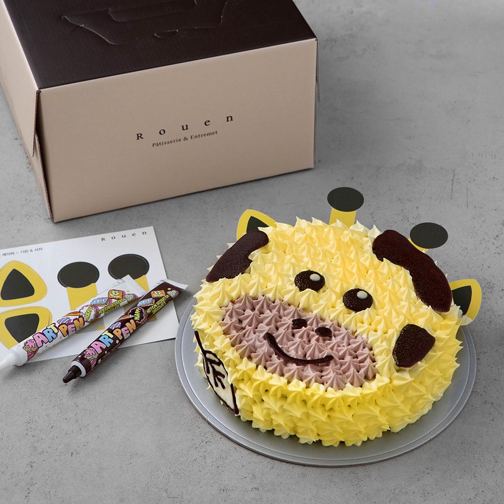 후앙 동물 케익 만들기 2호 사자와 기린, 537g, 1개