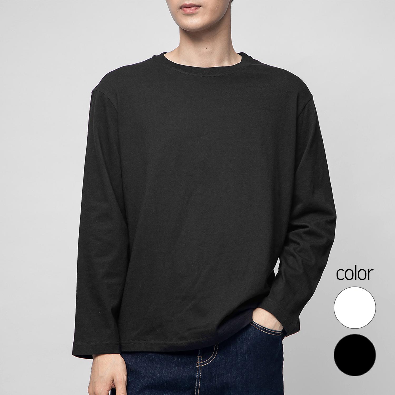 캐럿 긴소매 프리미엄 크루 넥 티셔츠