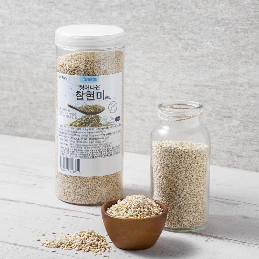 씻어나온 찰현미, 1.3kg, 1통