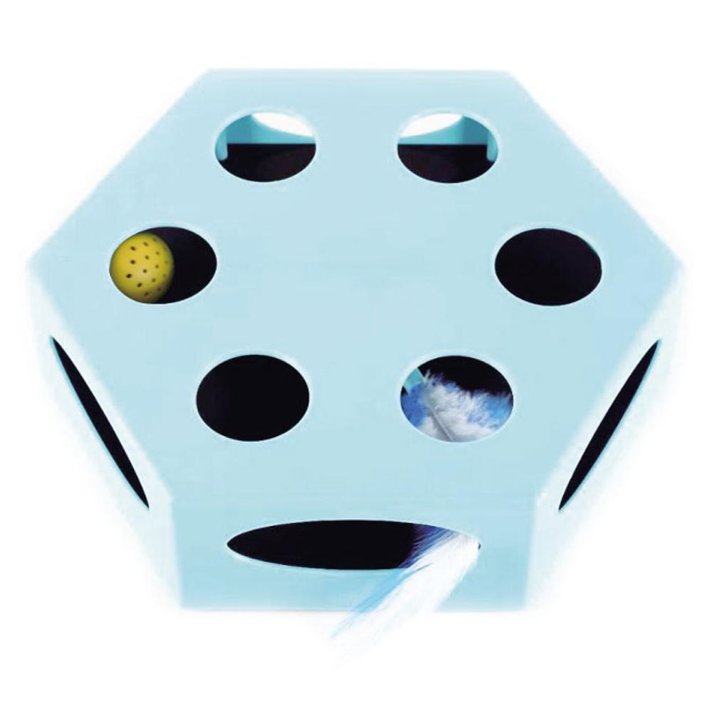 리스펫 사냥본능 고양이 자동 장난감, 블루, 1개