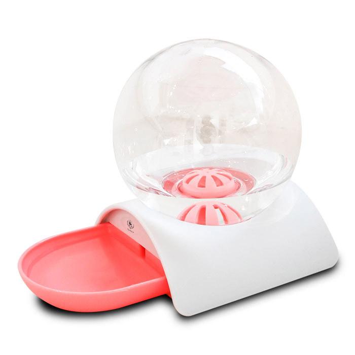 딩동펫 반려동물 구슬 반자동 급수기, 핑크, 1개