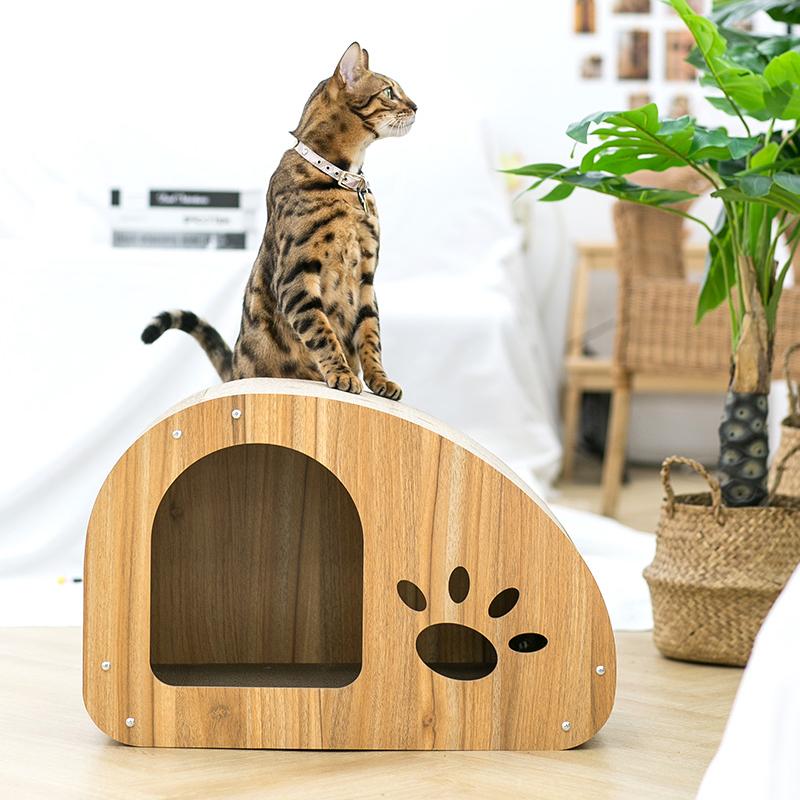 더조은 숨숨집 고양이 스크레쳐 하우스형, 발바닥, 1개