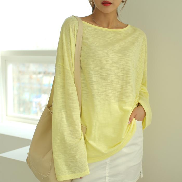 빼빼 여성용 루즈핏 긴팔 티셔츠