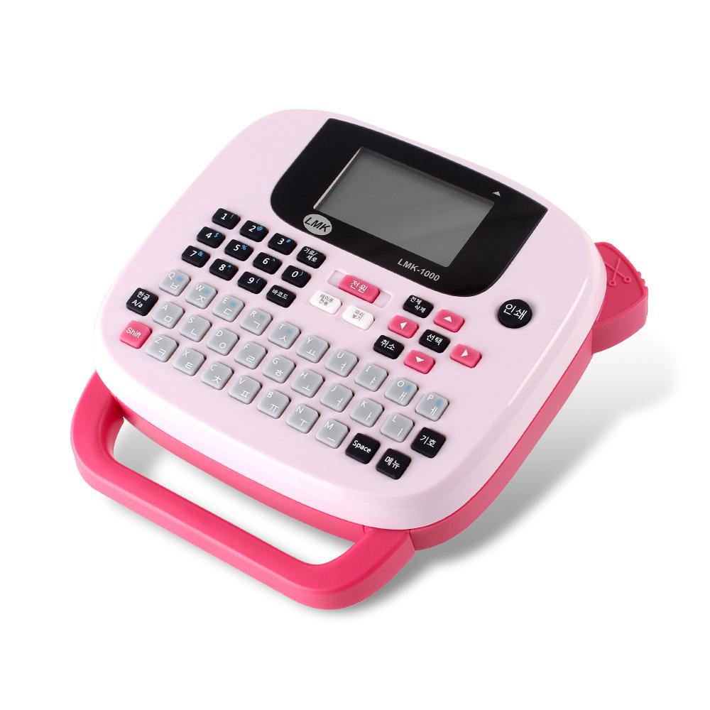 로드메일코리아 휴대용 라벨프린터, LMK-1000(핑크), 1개