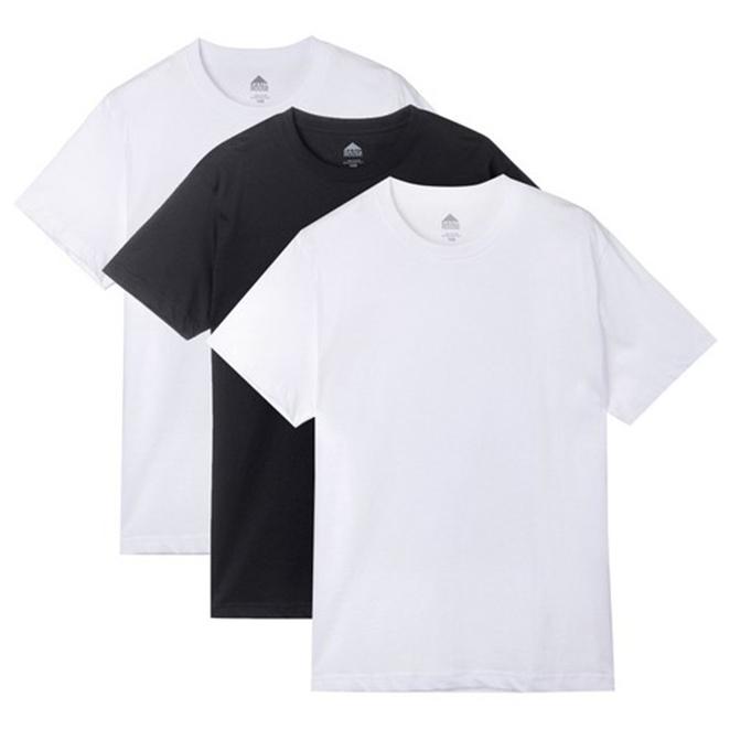 베이직하우스 남녀공용 순면라운드 반팔티 오리지널팩 3p HATS0101