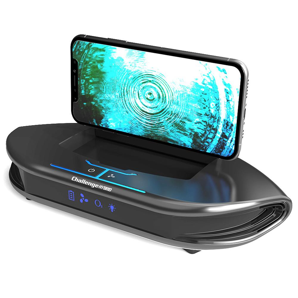 챌린지하이브리드 퓨어 차량용 공기청정 휴대폰 거치대 블랙, AIR-522C