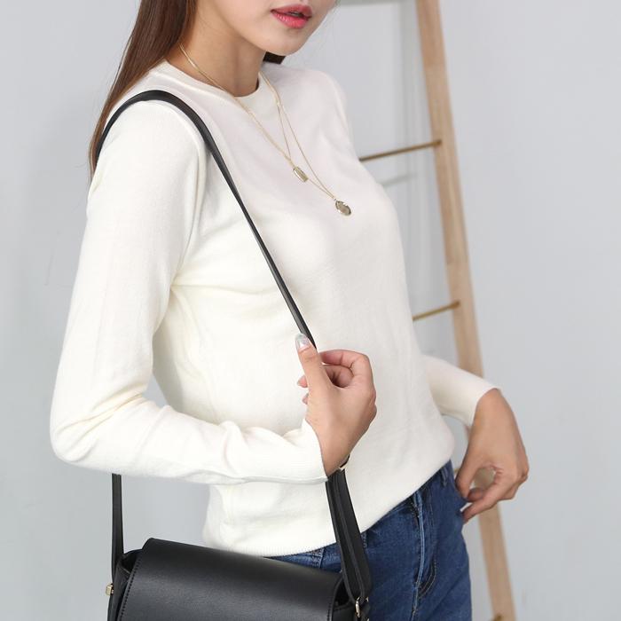 플레이팝 여성용 데일리로 좋은 라운드넥 니트티셔츠