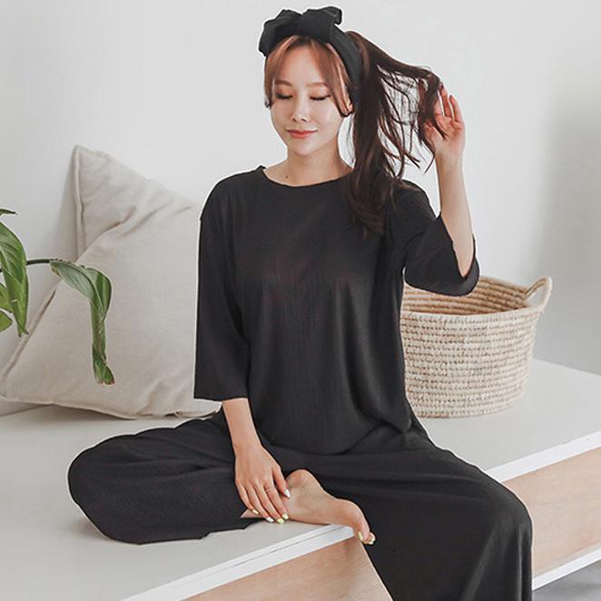 글램공감 여성용 코지 투피스 잠옷