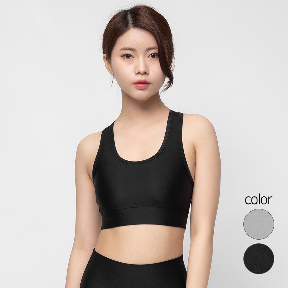 캐럿 여성용 기능성 레이서백 스포츠 브라