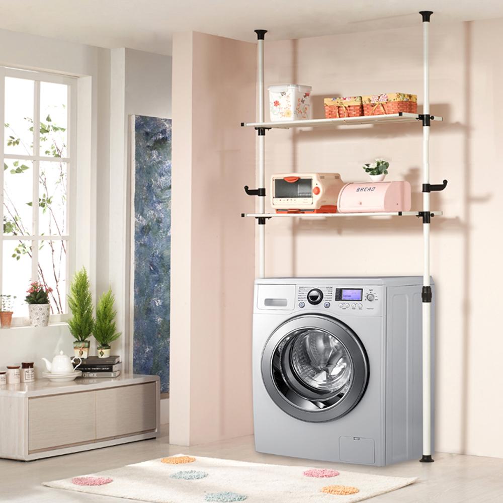 하우스데이 나사방식 세탁기전용선반 2단, 혼합 색상
