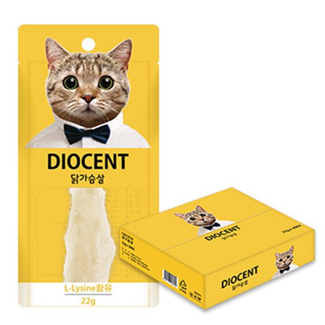 디오센트 고양이 간식 통살 닭 22g, 닭가슴살, 30개입