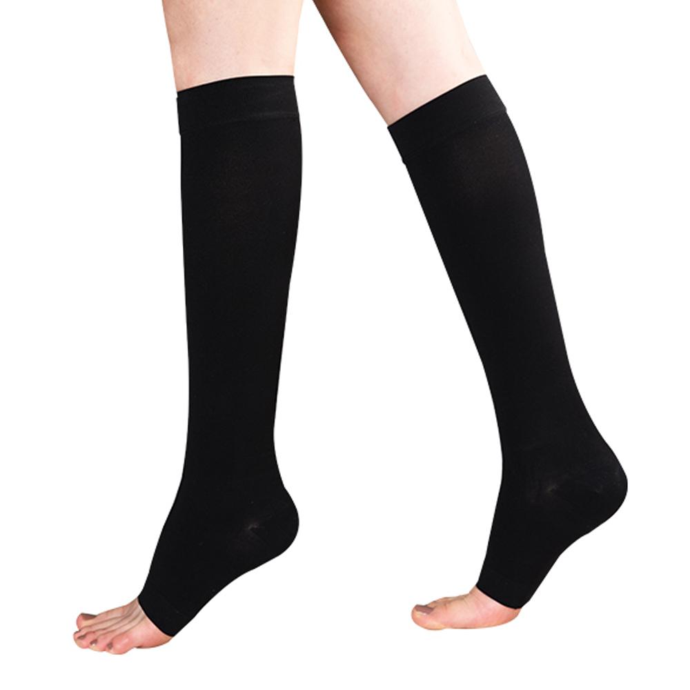 원더워크 의료용압박스타킹 무릎형/발트임 검정색, L, 1개