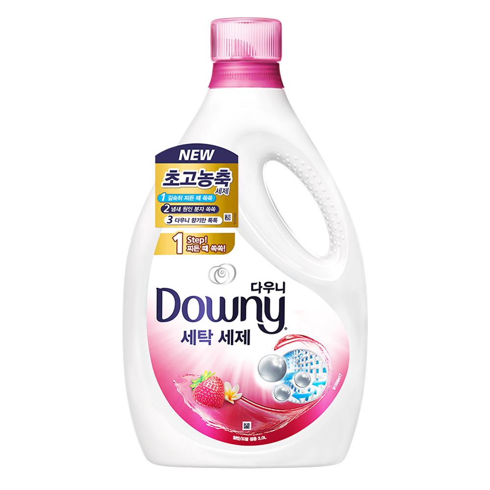 다우니 프리미엄 액체형 세제 핑크 본품, 3L, 1개