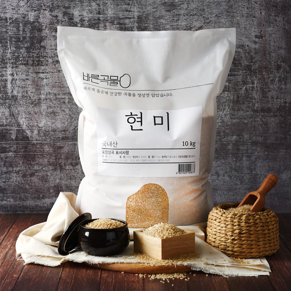바른곡물 현미, 10kg, 1개